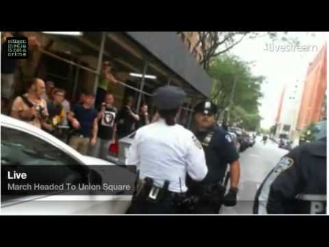 Occupy Wall St. women arrested for asking not to be manhandled by police.