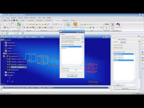MSC Nastran, Patran Tutorial - Linear Statics, Thermal Stress with Solids