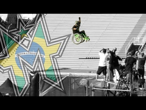 Disable Guy Jumps Huge Ramp In Wheelchair