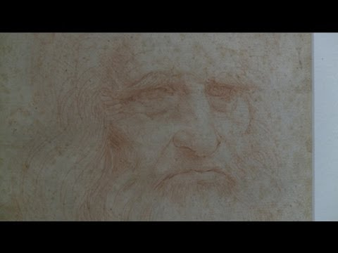 euronews hi-tech - Rare showing of Leonardo self portrait