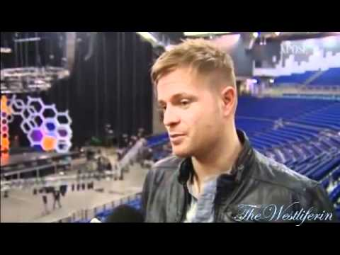Nicky Byrne - talks backstage at Cheerios Childline
