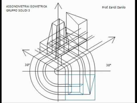 Assonometria isometrica gruppo solidi 3