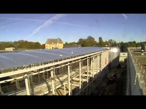 Timelapse - construction d'un nouveau bâtiment pour l'enseignement