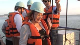 Ministra Ideli Salvatti faz vistoria nas obras da ponte de Laguna