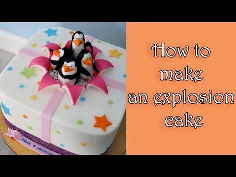 How to make an explosion cake tutorial / Jak zrobić tort z efektem wybuchu