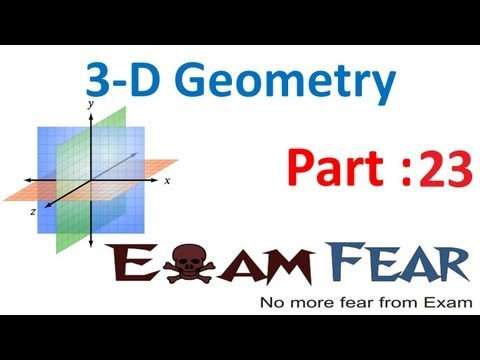 Maths 3 Dimensional Geometry part 23 (Example :Plane through intersecting plans) CBSE class 12