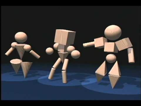 3D Geometric Shapes Dance Ballet
