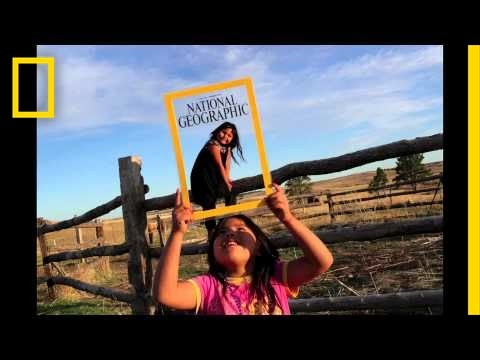 Pine Ridge Reservation Residents Try Out National Geographic Magazine's Cover