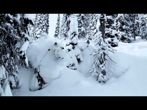 Катаем на лыжах по пухляку