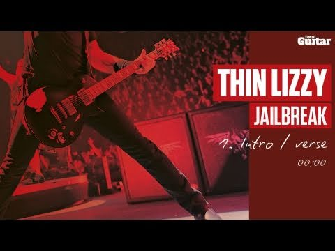 Guitar Lesson: Thin Lizzy 'Jailbreak' -- Part One -- Intro/Verse (TG217)
