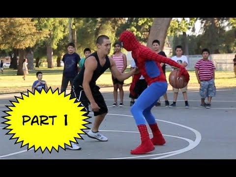 Spiderman Plays Basketball.... Amazing Spiderman 2