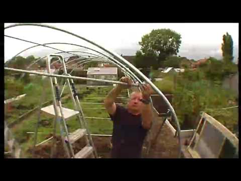 Polytunnel Construction - Door Rail assembly