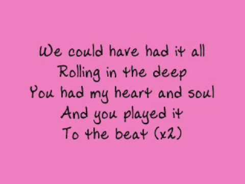 Adele - Rolling in the Deep - lyrics