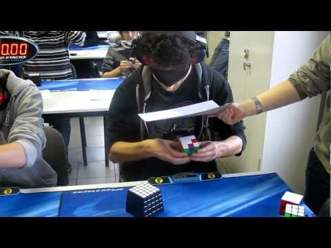 Marcell Endrey Rubik's Cube blindfolded World Record 28.80s