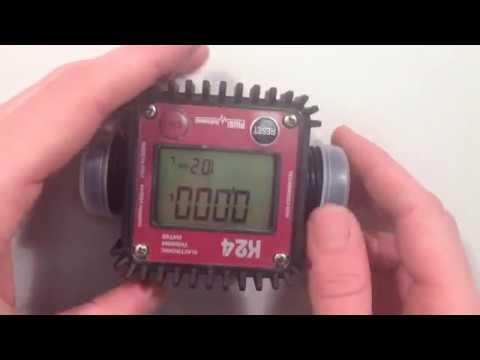 Как перевернуть дисплей на счетчике Piusi K24