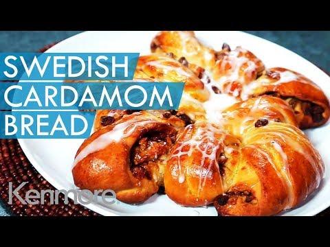 Cinnamon and Raisin Swedish Cardamom Bread Recipe with Icing | Kenmore