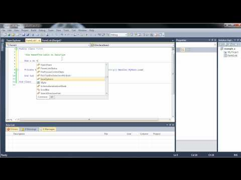 Visual Basic Tutorial 2 - Controls, Comments, Variables, and Data Types