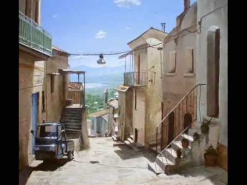Acrylic painting process - Italian Landscape.wmv