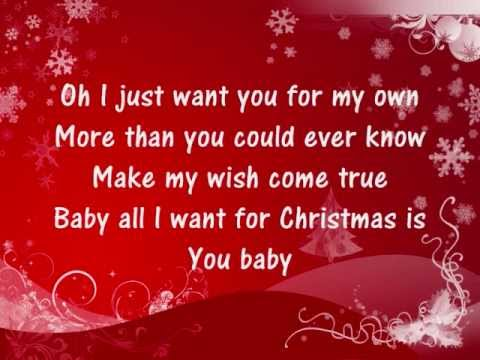 Mariah Carey - All I Want For Christmas Is You - Lyrics - UCedvd1km2RyLXktuPSiIfdA