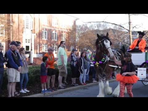 The city of Auburn held a Mardi Gras Parade in downtown Auburn.