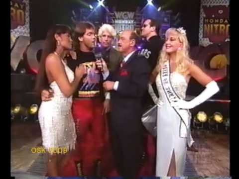 Ric Flair, Chris Benoit & Mongo w Debra & Woman -3/2/97