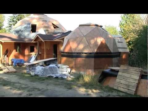 Geodesic Dome Home being built on Salt Spring Island BC