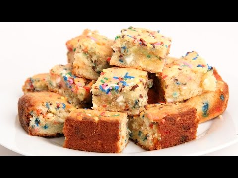 Confetti Blondies Recipe - Laura Vitale - Laura in the Kitchen Episode 908