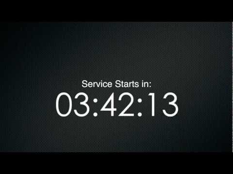 Ten Minute Countdown Timer in 1080p 16:9 HD - Metal