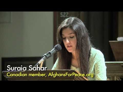 Afghan-Canadian woman Suraia Sahar speaks out to end the war in Afghanistan - October 13, 2010