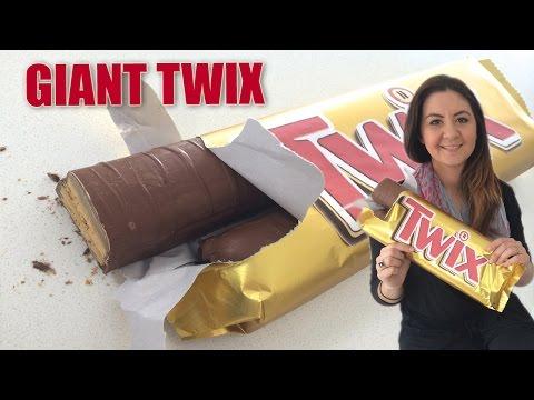 GIANT TWIX Candy Bar Recipe HOW TO COOK THAT Ann Reardon