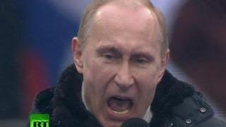 Путин в Лужниках: Выступление на митинге 23 февраля