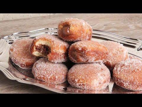 Bomboloni | Nutella Stuffed Italian Donuts | Episode 1132 - UCNbngWUqL2eqRw12yAwcICg