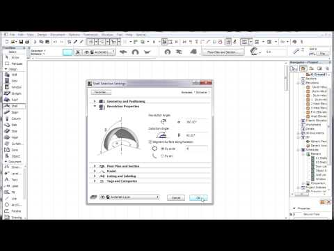 ArchiCAD 15 - Shells - Create basic shapes: cone, pyramid, sphere, ellipsoid