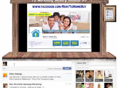 Facebook Marketing Secrets Webinar 3B VIDEO by Jomar Hilario featuring Jay McLean