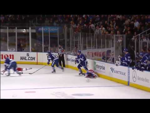 Dion Phaneuf-s MASSIVE Hit on Mike Sauer - Dec 5th 2011 (HD)