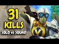 31 KILL CRAZY ENDING | Solo vs Squad in Season 5
