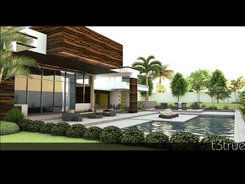 3d Sketchup house model-  lumion render - vray render - podium render [t3true] watch in HD!