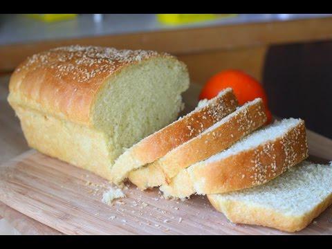Homemade Semolina Bread Loaf Video Recipe   Soft Spongy Sandwich Bread