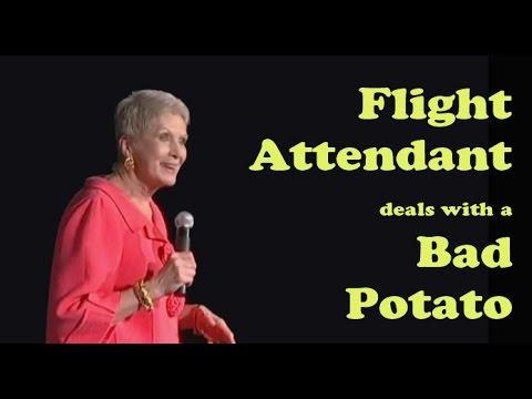 Jeanne Robertson Flight attendant deals with a bad potato