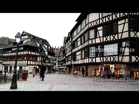 Strasbourg, France - HD 2K 4K Time Lapse Stock Footage Royalty-Free