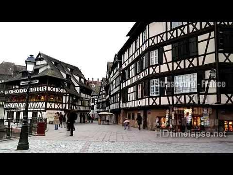 Strasbourg, France - HD 2K 4K Time Lapse Stock Footage Royalty-Free