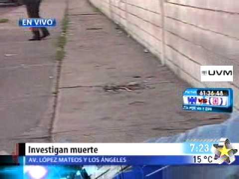 Investigan extraña muerte de hombre en vía pública