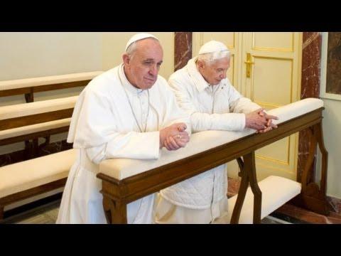 Pope Francis meets with Benedict XVI.    3/23/13