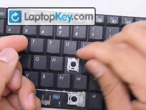 Replace Keyboard Key on HP Compaq CQ60 G60 G61 DV6 CQ61 HDX | Fix Laptop Installation Repair