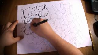 Letras de graffiti abc trowup, throwie alphabet By Hase Part1