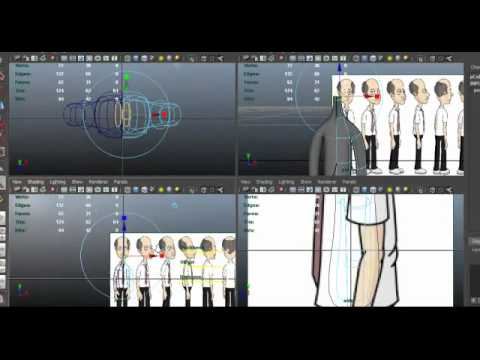 Autodesk Maya 2012 Tutorial- Low Polygon Game Character Part 1