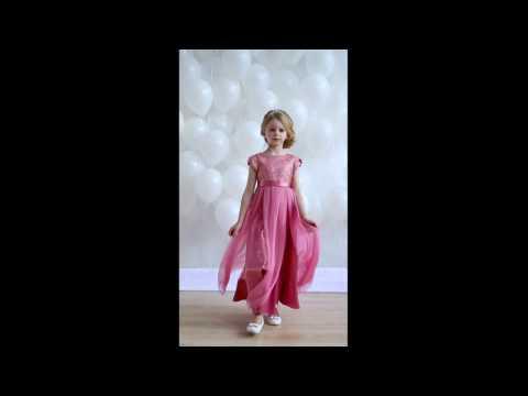 Нарядное платье Юнона розовое