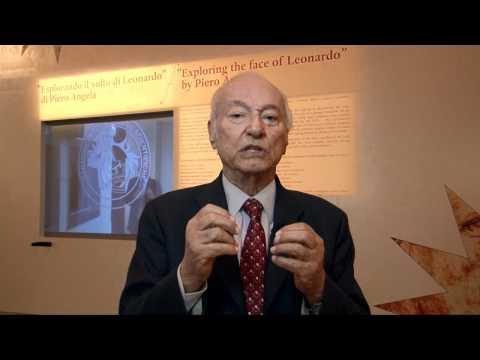 Piero Angela alla mostra 'Leonardo. Il genio, il mito'