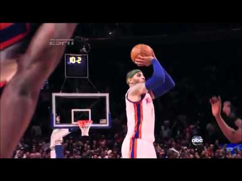 Carmelo Anthony Game Winning 3 in OT vs Bulls (4.8.12) - 720p HD