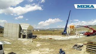 180 m³/saat kapasiteli sabit beton santralli kurulumu